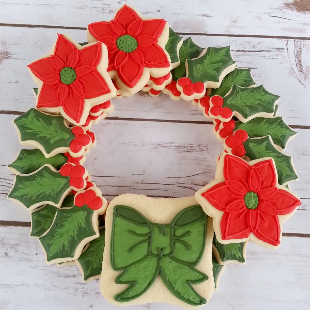 Christmas Wreath Artful Cookies